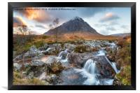 Sunset at Buachaille Etive Mor, Framed Print