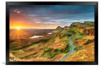 Beautiful Autumn sunrise over the Quiraing, Framed Print