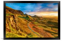 Beautiful sunrise over the Quiraing on the Isle of, Framed Print