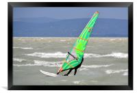 Windsurfing Lake Balaton, Framed Print