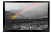 Rainbow over The Cowal Peninsula, Framed Print