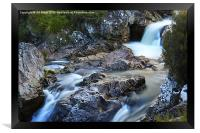 River Coupall Waterfall , Framed Print