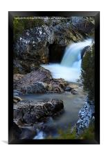 The River Coupall Waterfall , Framed Print