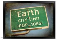 Welcome to Earth, Framed Print