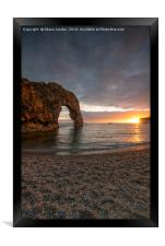 Durdle Door bathed by the sun , Framed Print