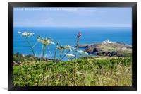 Summer view to Point Lynas Anglesey, Framed Print