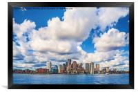 Boston Skyline, Framed Print