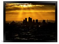 Canary Wharf and Docklands, Framed Print