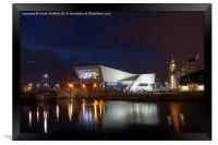The Museum of Liverpool at night, Framed Print