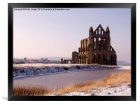 Whitby Abbey Winter, Framed Print