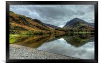 Autumn Reflections at Buttermere Lake, Framed Print