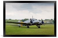 Avro Anson parked on the grass, Framed Print