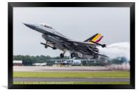 Belgian Air Component F-16AM Fighting Falcon after, Framed Print