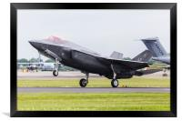 F-35A slows to land, Framed Print