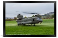 Royal Air Force CH-47-HC.6A Chinook helicopter, Framed Print
