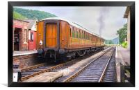 Steam Train Leaving Levisham Station, Framed Print