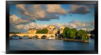 River Seine - Paris, Framed Print