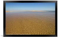 Water Ripples over the sand at Wells-next-the-sea, Framed Print