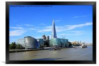London cityscape with the Shard, England, UK, Framed Print