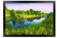 Forth and Clyde Canal, Scotland, Framed Print