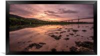 Dawn on the Clyde, Framed Print