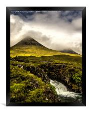 The Red Cuillins Under Cloud Cover, Framed Print