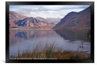 """""""Reflections at Ennerdale water"""", Framed Print"""