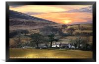 """Magic sunrise over Loweswater"", Framed Print"