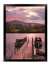 """""""Derwentwater jetty and boats"""", Framed Print"""