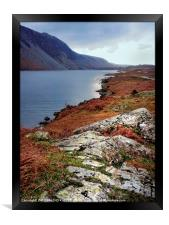"""Cool blue Wastwater"", Framed Print"