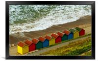"""""""Colourful new beach huts at Whitby"""", Framed Print"""