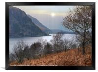 """""""Autumn mists at Ennerdale water"""", Framed Print"""
