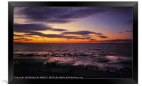 """""""Sunset on the Solway Firth"""", Framed Print"""