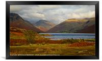"""Autumn evening Wastwater"", Framed Print"