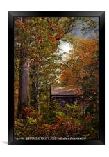 """""""Little hut in the Autumn wood"""", Framed Print"""