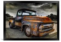 Rusty Truck Ford f-100, Framed Print