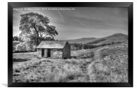 Old brick shed in Staffordshire area in HDR, Framed Print