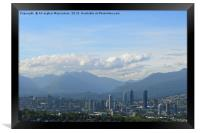 A nice view of Vancouver, Canada., Framed Print