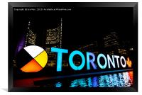 Nathan Phillips Square, Toronto, Canada, Framed Print