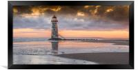 Talacre sunrise, Framed Print