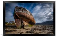 Corpach Wreck, Framed Print