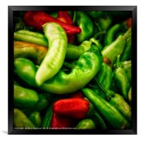Peppers at the Market, Framed Print