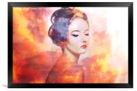 Head In The Clouds , Framed Print