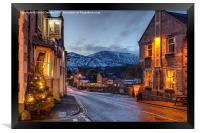 Christmas in Castleton, Framed Print