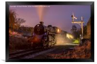 75078 at oakworth station KWVR, Framed Print