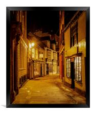 The backstreets of Whitby, Framed Print