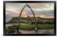 Whitby Abbey from Whalebone Arch, Framed Print