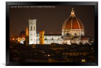 Florence Churches, Framed Print