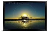 Brighton west pier , Framed Print