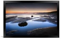 Winter Twilight, Sandsend, Framed Print